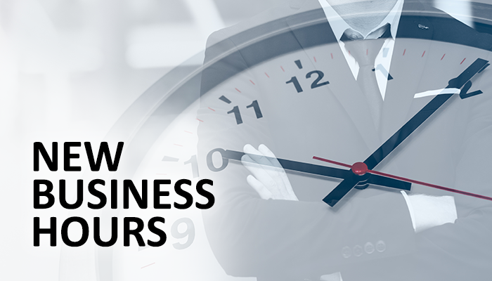 New business hours for Costas Tsielepis & Co