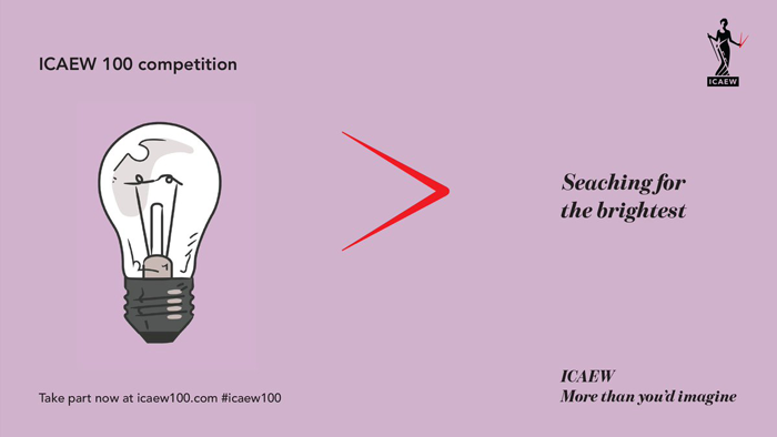 ICAEW 100 competition launched
